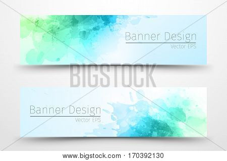 Abstract watercolor banner design/ template for businnes.