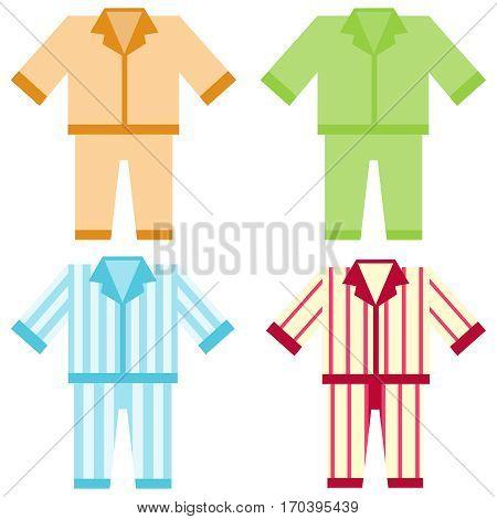 Pajamas, sleepwear icon, clothing. Flat design, vector illustration, vector.