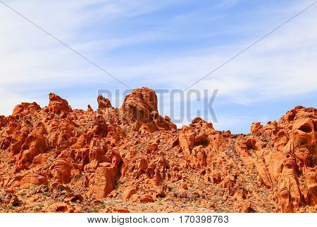 Rock Formations in the Valley of Fire State Park, Nevada, USA