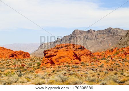 Orange Rocks in the Valley of Fire State Park, Nevada, USA