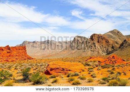 The Valley of Fire State Park in Nevada, USA