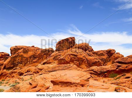 Rock Formations in the Valley of Fire State Park in Nevada, USA
