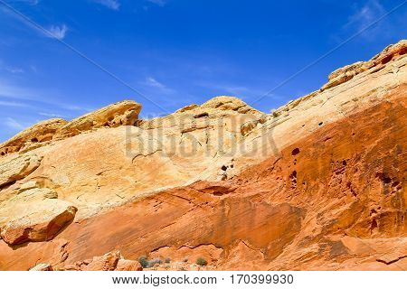 Rainbow Rocks in the Valley of Fire State Park in Nevada, USA