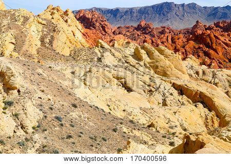 View of the Fire Canyon in the Valley of Fire State Park in Nevada, USA