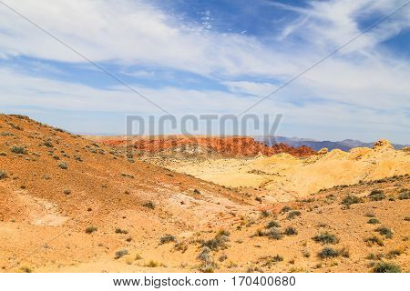 Look into the Canyon in the Valley of Fire State Park in Nevada, USA