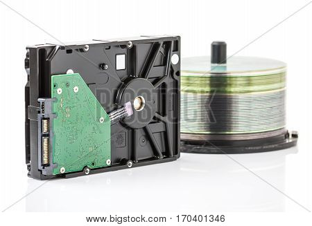 Hard Disk Drive And Dvd Discs