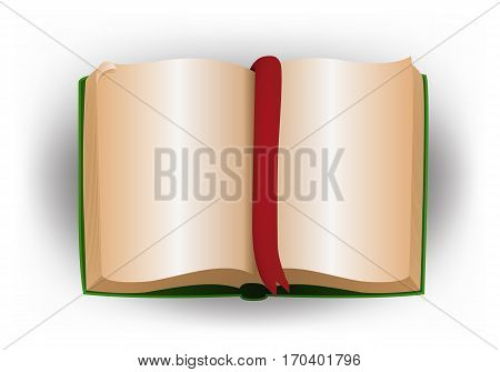 illustration of a blank book on isolated white background