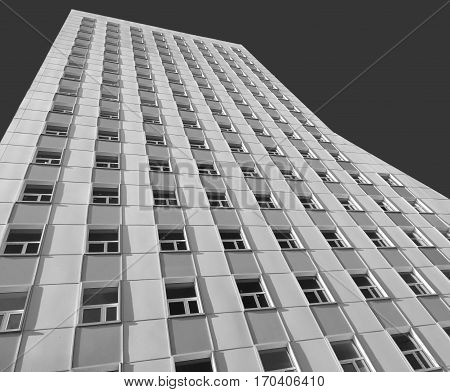 Moscow Russia - January 25 2017: Modern blocks of flats in Babushkinskiy district. Black and white version.
