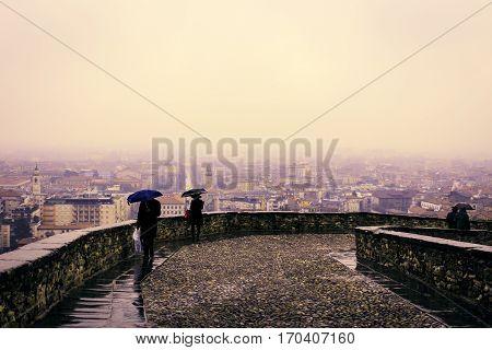 Rainy Day In Bergamo