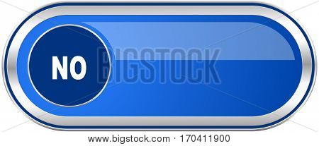 No long blue web and mobile apps banner isolated on white background.