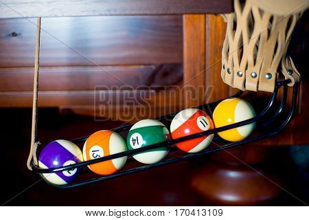 billiard balls are pocketed in the pocket