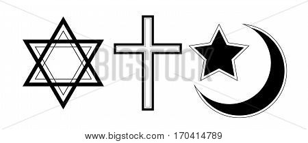 The symbol of the three known religions