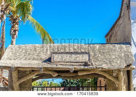 An old entrance in San Jose del Cabo, Mexico.