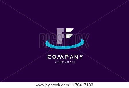 f cyan magenta blue letter alphabet vector company logo icon sign design template