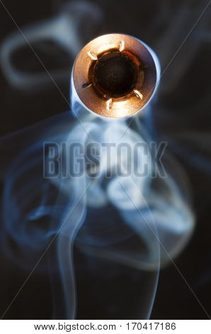 Hollow point bullet and smoke that are going a long way