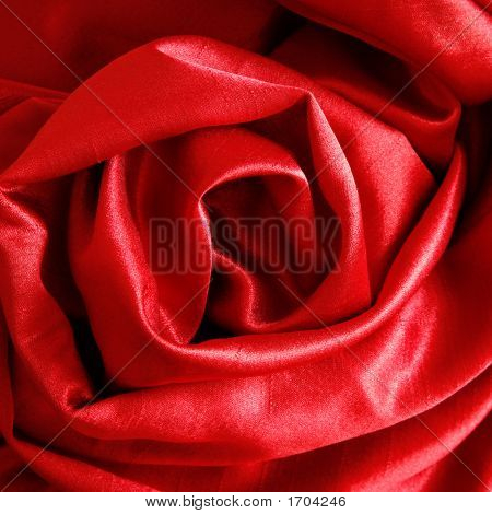 Silk drape folded into abstract rose shape poster