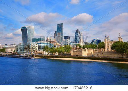 London financial district skyline Square Mile England