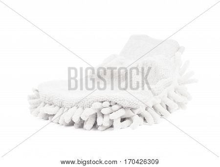 Car washing mitt glove sponge isolated over the white background