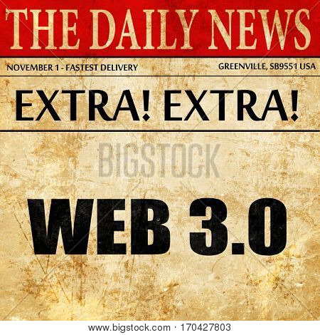 web 3.0, newspaper article text