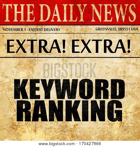 keyword ranking, newspaper article text