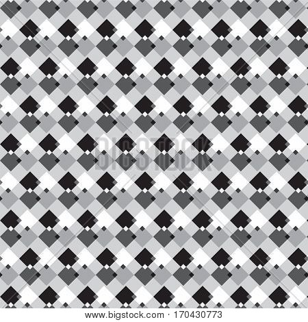 black white and silver shade crosswise squares pattern on light gray background vector illustration image