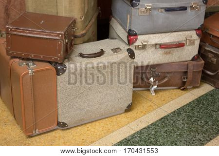 Old Suitcases In Museun