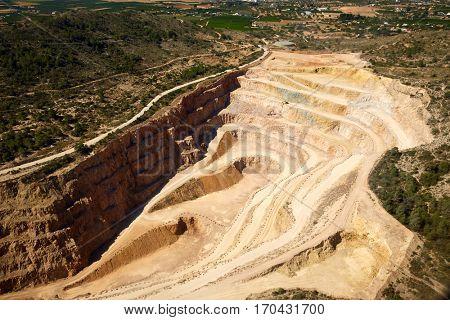 Quarry in Riba-Roja del Turia in Valencia aerial view