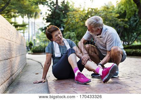 Senior Adult Exercise Pain Injury Ache