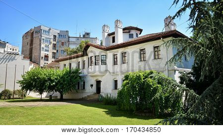 BELGRADE, SERBIA, JULY 4, 2014: Exterior shot of Princess Ljubica's Residence, famous landmark at the center of Belgrade, Serbia.