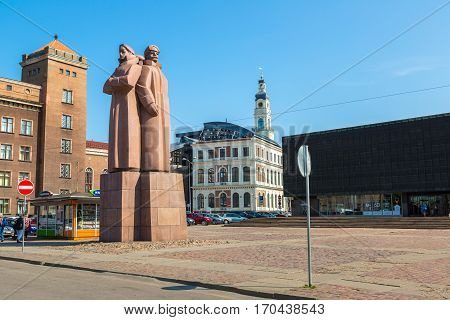 Communist Statue In Riga