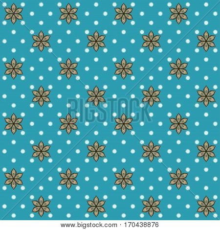 Seamless vector background. Vintage floral calico pattern. Easily edit the colors. This ornament is part of collection oriental patterns.