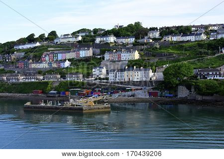 City of Cobh in Ireland and the dock.