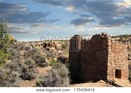 Ruins of Twin Towers at Hovenweep National Monument