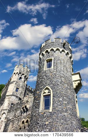 Burg Rheinstein or Castle Rheinstein in Germany