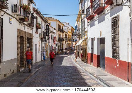 Historical Street In Cordoba
