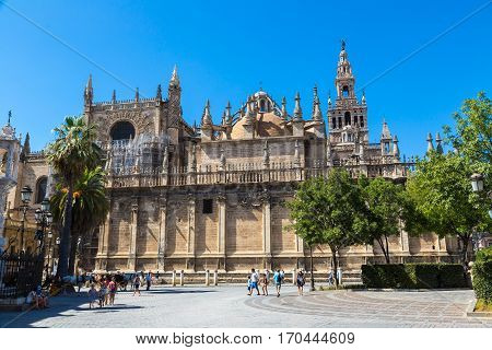 Seville Cathedral In Sevilla