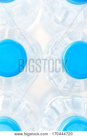 Close-up plastic bottle of drinking water background