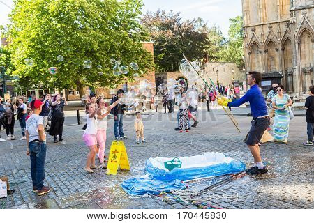 Huge Bubbles In Front Of Minster In York