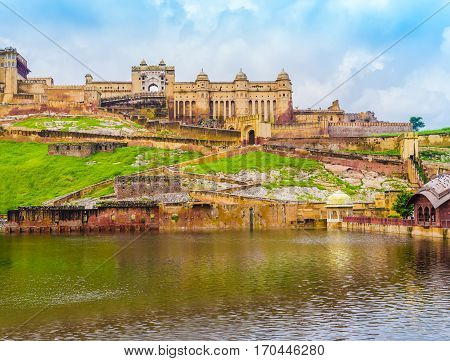 Scenic view of  Amber Fort, Jaipur, Rajasthan, India