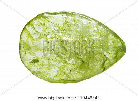 olivine geological green crystal semigem quartz isolated