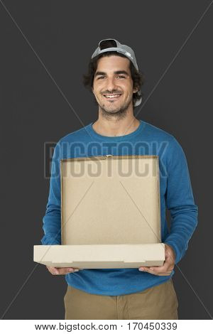 Pizza Boy Food Delivery Service Box Package