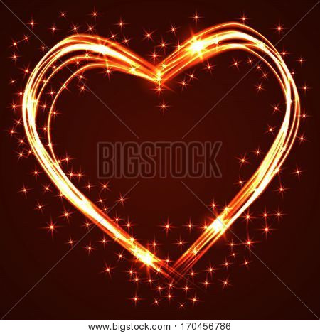 Beautiful and fun hand drawn plasma or neon hearts intersecting with different light effects, perfect for Valentine's day.