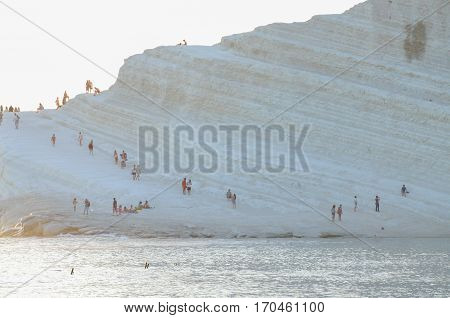 White cliff of Scala dei Turchi (Turkish Staircase) near Agrigento