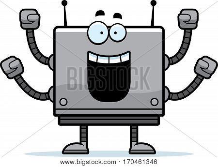 Celebrating Square Robot