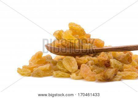 Raisin, Golden raisin isolated on white background