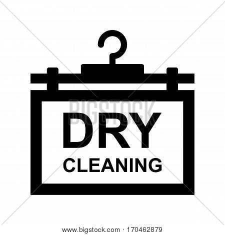 Dry Cleaning Logo with a Hanger Isolated on White Background