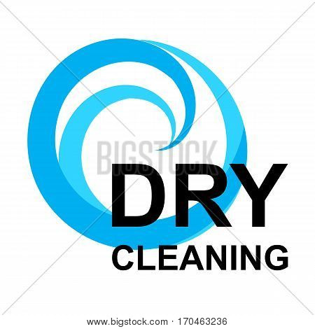 Dry Cleaning Logo Isolated on White Background