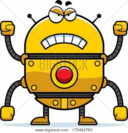 Angry Gold Robot