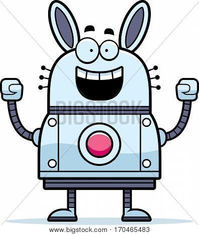 Celebrating Robot Rabbit