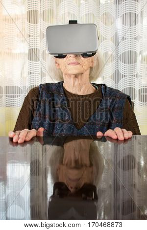 Grandma Trying To Use Vr Goggles